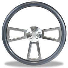 """18"""" Billet & Carbon Fiber Steering Wheel for Peterbilt, Kenworth Big Rig Truck"""