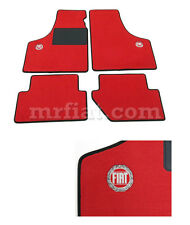 Fiat 500 600 All Red Floor Mats Set 1957-75 New
