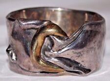 Vintage Large Curvy Sterling Silver Bracelet