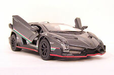 METALLIC GREY Lamborghini VENENO Car Vehicle Diecast 1/36 Pull Back BULK PACK