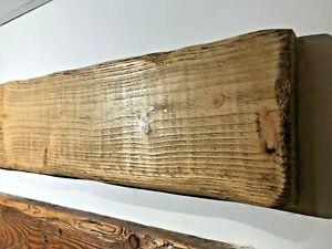 Fascia Mantle Mantel reclaimed Pine Handmade Rustic Wood Stove Fireplace beam