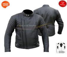 Giacche nera in pelle bovina per motociclista taglia M