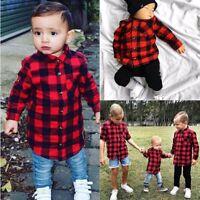 Toddler Kids Baby Boys Clothes Long Sleeve Blouse T-shirt Tops Gentleman Shirt