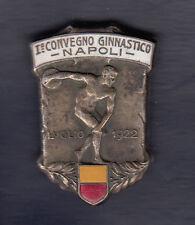 BELLISSIMA SPILLA SMALTATA I° CONVEGNO GINNASTICO NAPOLI 1922 DISCOBOLO STEMMA