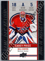 2018-19 UPPER DECK TIM HORTONS GAME DAY ACTION CAREY PRICE INSERT CARD New!