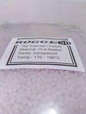 1kg Pellets Granulat PLA flexibel transparent