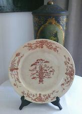 """antiker großer Teller von GIEN, Dekor """"Yeddo"""", Blumen, Keramik, Frankreich"""