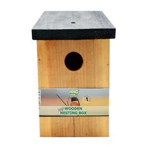 Quality Fully Treated Bird Nest Box House Home Hotel - Wood - Multi Deals