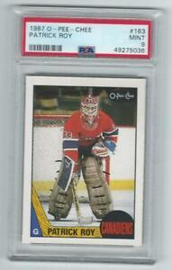 1987 O-Pee-Chee Patrick Roy #163 Graded Card PSA 9 2nd year Canadiens
