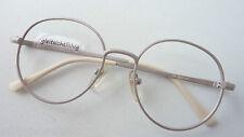 Kleine Pantobrille helle Metallfassung Farbe Nude Brille rund Vintage Grösse S