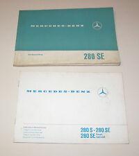 Betriebsanleitung Mercedes 280 SE - W 108  - Stand 1968!