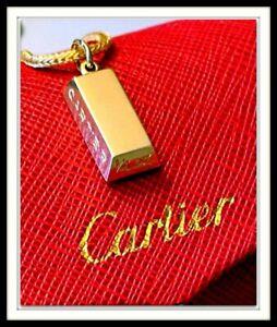 Authentic cartier 18K yellow gold 1/4 oz gold bar ingot pendant