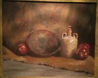 Beautiful Original Still Life Oil Painting On Canvas Signed Daniel Grant Framed