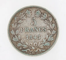 France, 5 Francs 1845 Louis Philippe I silver coin  exc+++         # M029