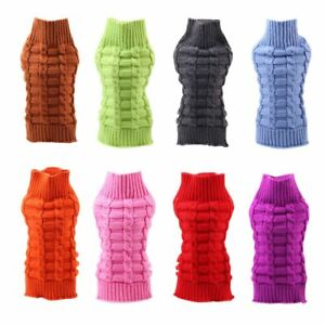 Dog Knitwear Sweater Cat Jumper Winter Puppy Knitted Coat Pet Clothes Warm Cloth