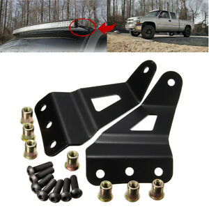 """Set Roof Mount Brackets Support for 52"""" Curved LED Light Bar for Chevy GMC New"""
