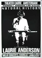 LAURIE ANDERSON 1986 HOME OF THE BRAVE ORIGINAL AMSTERDAM CONCERT TOUR POSTER