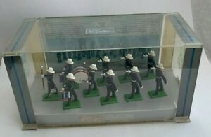 Britain's 1801 - Royal Marine Marching Band - 10 Figures With Display Case