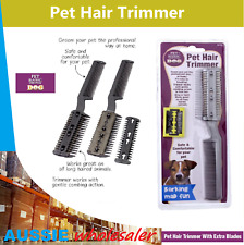 AU Pet Hair Trimmer 2 Sided Razor Grooming Cutter Clipper Comb Dog Puppy Cat