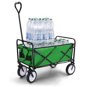 Garten Transport Faltwagen Handwagen Bollerwagen klappbar bis 80kg grün