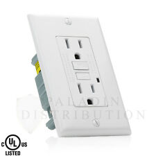 15A GFCI Receptacle Outlet w/ LED & Wallplate UL 2008 - White 15 Amp [1 pc]
