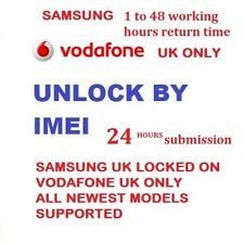 Vodafone UK Unlock Code Samsung Galaxy S6 S7 S8 S9 A3 A5 A6 A8 J5 J3 Edge Note