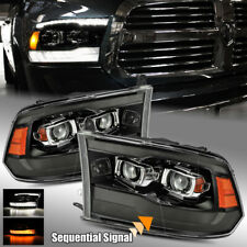 For 09-18 Ram 1500/2500/3500 Dual DRL + Sequential Signal Projector Headlights