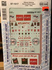 Microscale -NOS- 87-1017 Atlantic Refining Service Station Signs HO-Scale