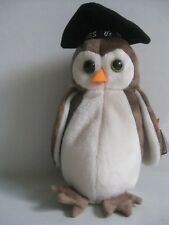 TY Beanie Babies WISE The 98 Graduation Owl DOB 1997 with 1998 Tag Date Error