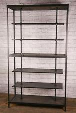 Industrial Reclaimed Wood Retail Fixture Rustic Clothing Rack Display Shelving