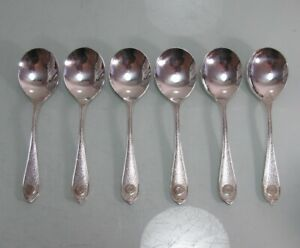 6 Tassenlöffel Beard 90er Silberauflage schön verziert