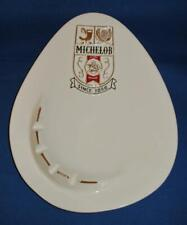 Vintage Michelob Beer Advertising Ceramic Ashtray Mid Century Design