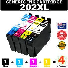 4x Generic 202XL T202XL E-202XL Ink Cartridge For Epson WF-2860 XP-5100 202 XL