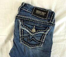 MISS ME Women's Medium Wash Irene Top Stitch Bootcut Jeans 27 x 28