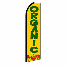 ORGANIC PRODUCE Banner Flag Sign Display Only Flutter Swooper Feather 3' Wide