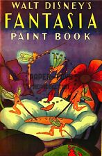 VINTAGE REPRINT - 1940 - FANTASIA PAINT BOOK COLORING BOOK SAMPLER