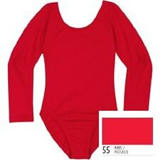 Mondor 497 Red Child Size Small (4-7) Long Sleeve Leotard