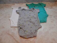 Baby Boy 6 Months Carters Space Ailen Ship SSlv One Piece Romper Outfit Set of 3