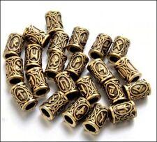 Viking Runes Beads Goldtone (8)