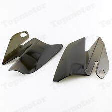 Smoke Saddle Shield Heat Deflectors For Harley Touring Road King FLHT FLHX 2008
