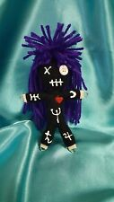 Authentic Voodoo doll Astrology Symbols 7 pins guide hand made karma new orleans