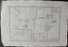 CARTE DES ISLES DES AMIS, POLYNESIE, par BONNE. Carte originale de 1780. dimensi