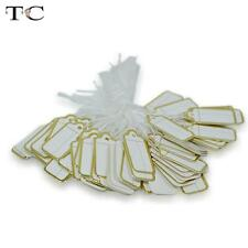100pcs Paper String Tags Gold Label Jewellery Display Watch Price Supply 25x15MM