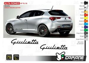 2 Writing Self Adhesive For Sides Side Front Alfa Romeo Giulietta Af Gl 06
