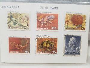 **** X6 Mixed Australian Stamps Animals, Fish *S1B18i4* E5