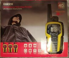 Uniden 40 Mile Two-Way Radios Black/Yellow Sx409-3Ckem 3 Pack - New!