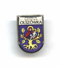 pin  Polish city coat of arms POLAND - badge - GMINA OLSZÓWKA - Our Lady