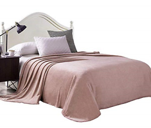 """Exclusivo Mezcla Luxury King Size Flannel Velvet Plush Solid Bed Blanket as 90"""""""
