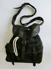 58978371a490 Authentic Balenciaga Leather Nylon Shoulder Bag Black - Braided Shoulder  Strap