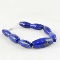 Best Offer 238.50 Cts Earth Mined Untreated Lapis Lazuli Genuine Beads Bracelet
